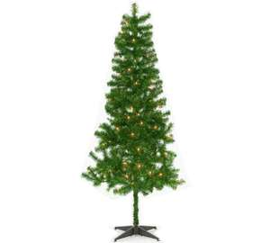 6' pre-lit Christmas tree plus decorations for £6.48 (Argos) or just tree for £4.99