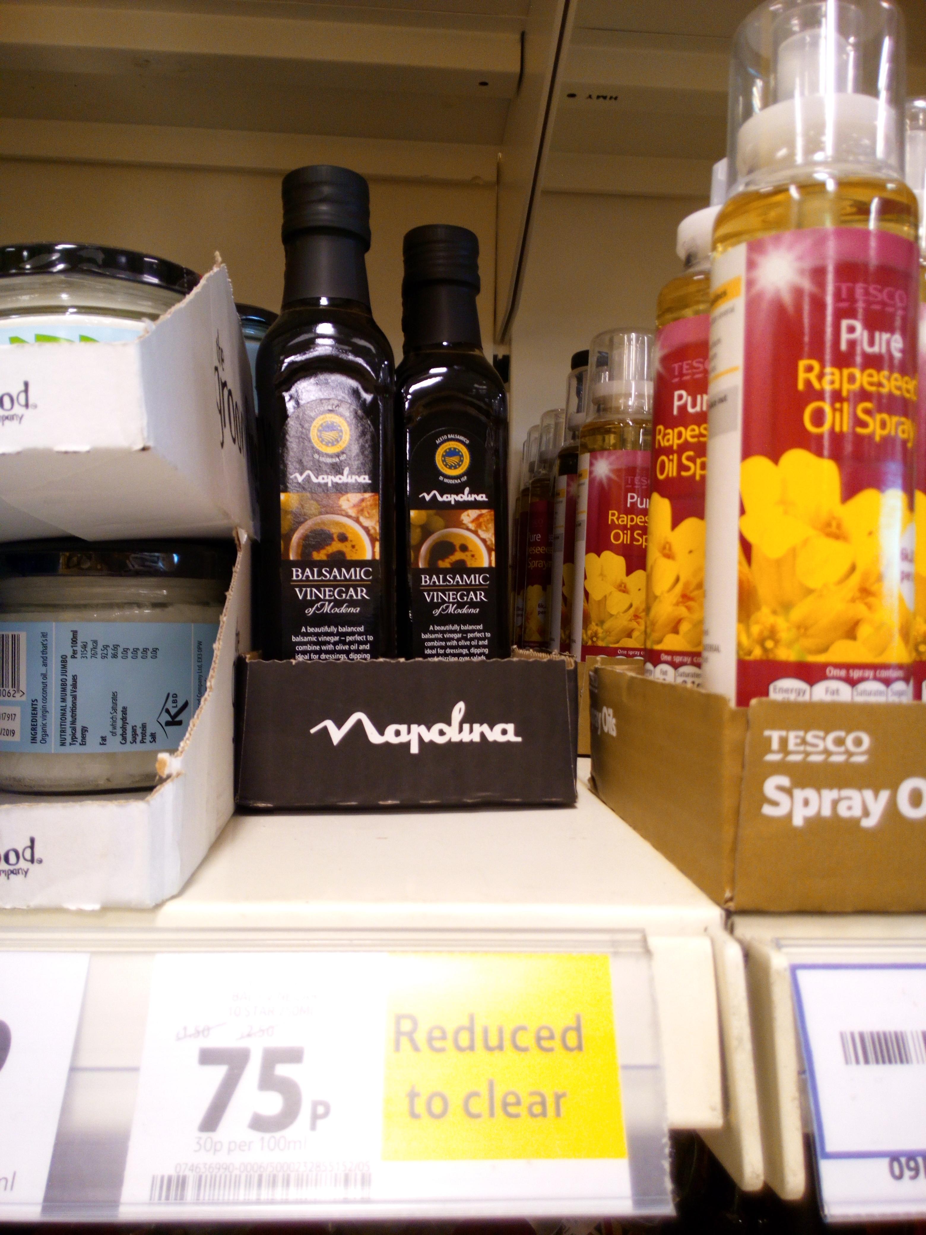 Napolina balsamic vinegar - 75p instore @ Tesco (Belfast)