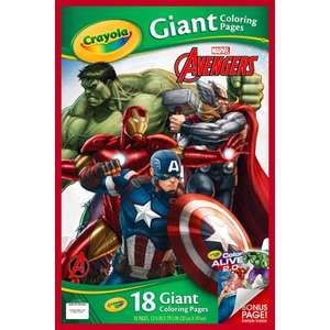 Crayola Giant Colouring Pages Avengers £1.59 @ Home Bargains
