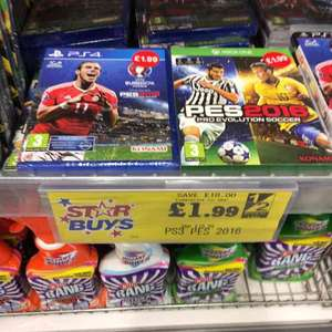PES 2016 PS4 / Xbox one @ home bargains Worcester store - £1.99