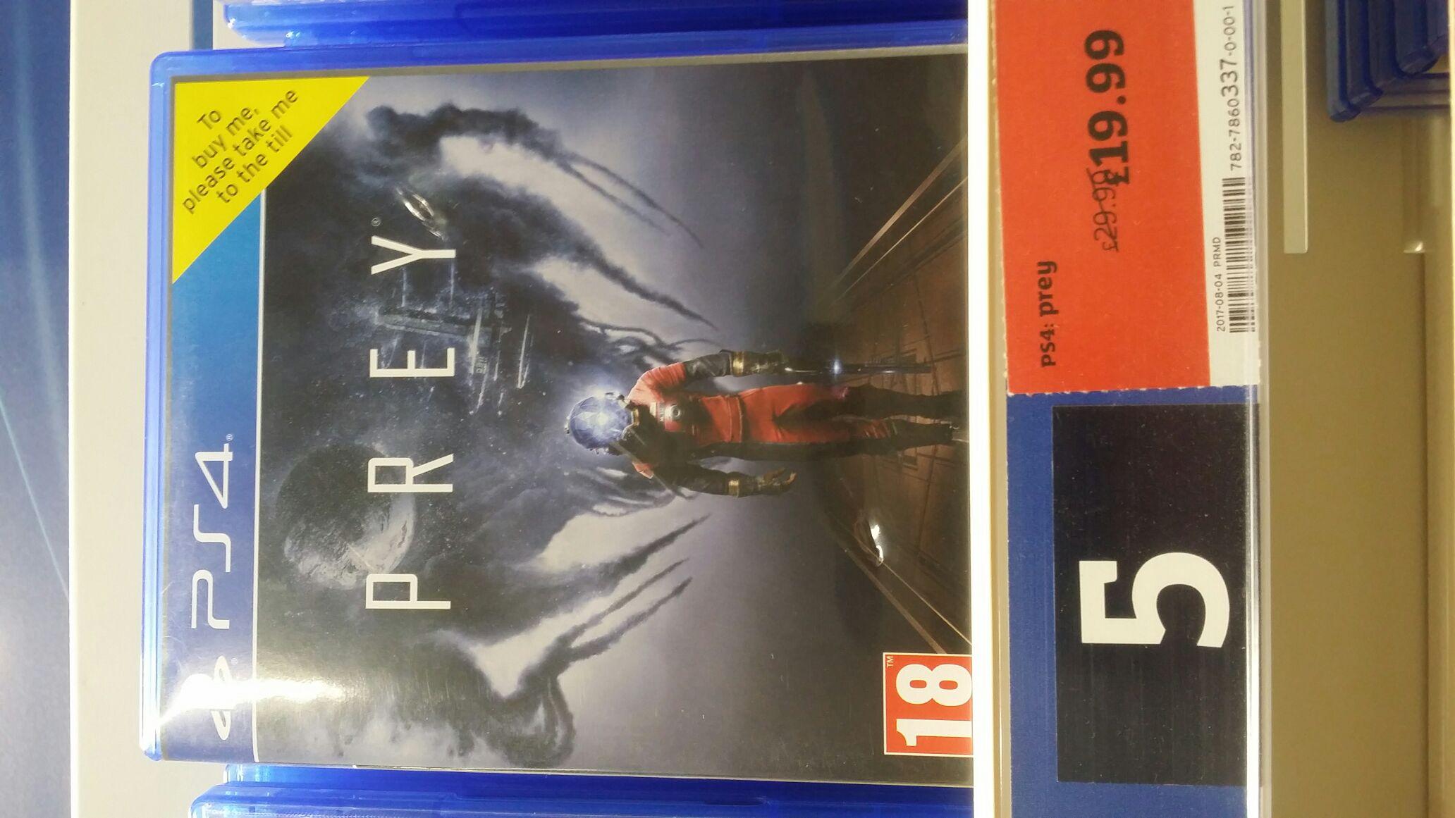 Prey (PS4 & Xbox One) - £19.99 at Sainsbury's