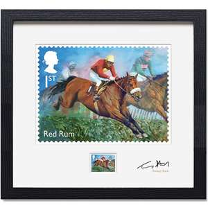 Royalmail Framed signed Red Rum Limited Edition of 150 Print and Stamp - £44.99 @ Royal Mail
