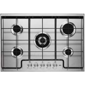 AEG HG745451SM 74cm Gas Hob with Wok Burner £282 + £50 Cashback (£232 after cashback) , 2 year warranty and Free delivery  @ AO (Using code)