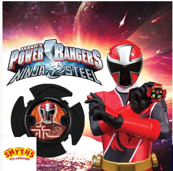 Free Power Rangers Ninja Steel Star toy from Smyths Toys via O2 Priority