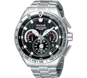 Pulsar Men's Stainless Steel Chronograph Bracelet Watch £48.74 - Argos code JEWEL25