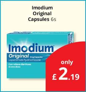 Imodium Original 2mg Capsules (Pack of 6) Only £2.19 @ Savers