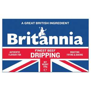 Britannia Finest Beef Dripping (250g) Only 60p @ Tesco