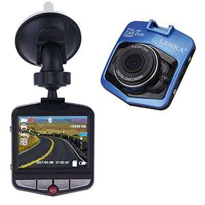 LANKA® Full HD 1080P Car Dash Cam DVR Camera Dashboard Digital Driving Video Recorder Built-in G-Sensor Parking Monitor Motion Detection Loop Recording (Blue) £17.99 Prime / £21.98 non-prime Sold by LANKA18 and Fulfilled by Amazon