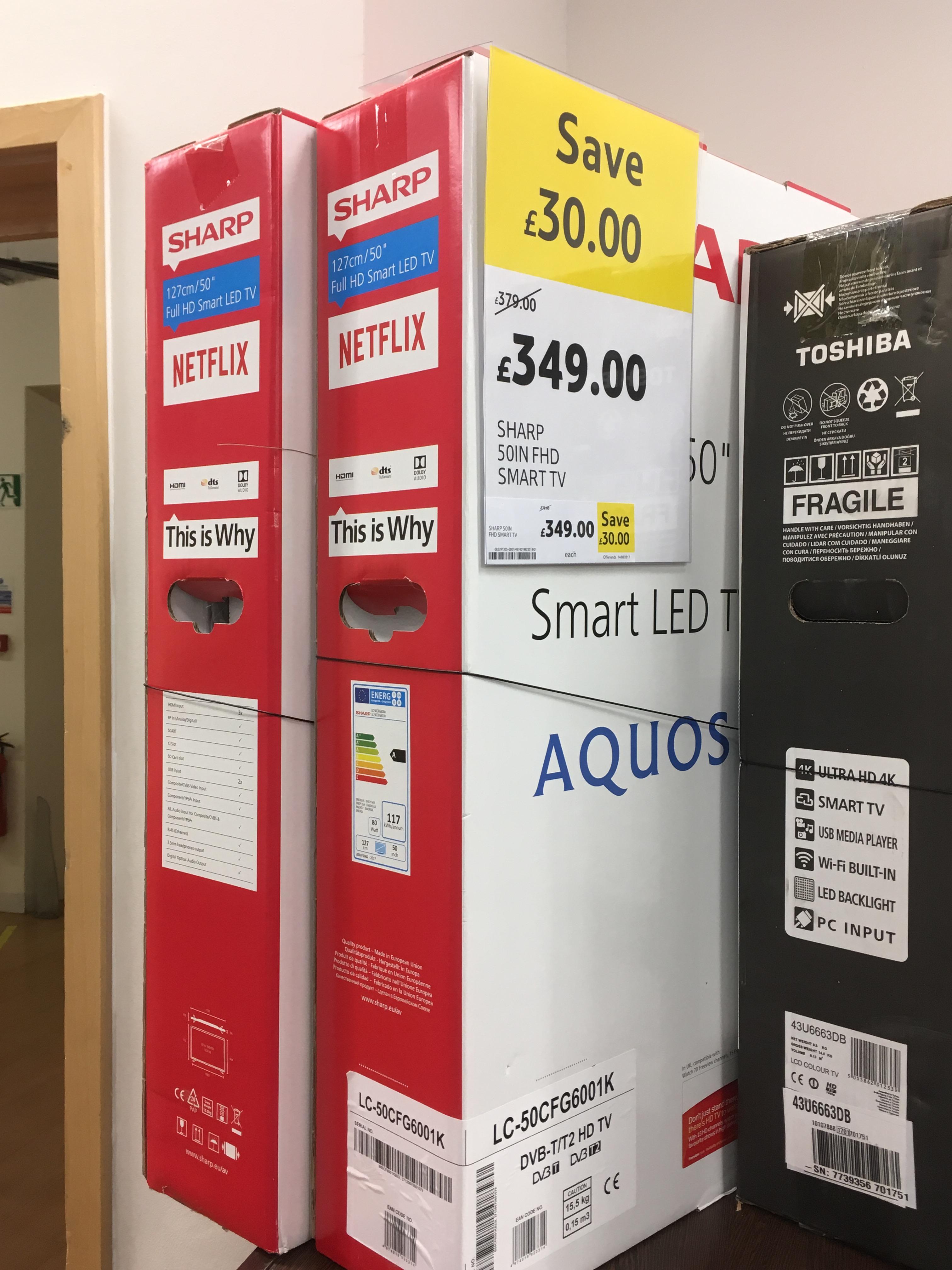 Cheap TVs at Tesco Fleetsbridge