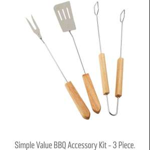 Value BBQ 3 Piece Accessory Pack @ Argos for £2.43