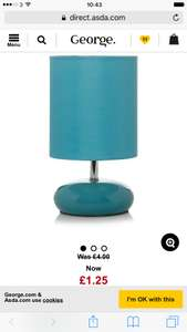 George Home Small Ceramic Pebble Lamp £1.25