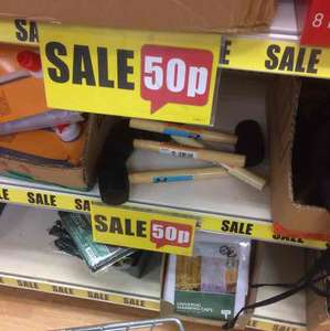 Rubber mallet 50p Poundland in-store