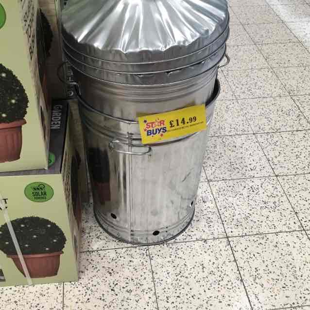 huge fire bin £14.99 - home bargains