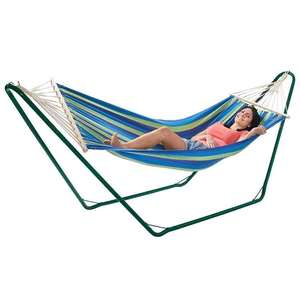 Vonhaus single hammock with frame £34.99 / £42.98 delivered Dispatched from and sold by DOMU UK. - Amazon