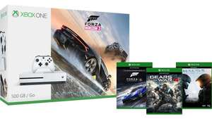 Xbox One S 500GB - Forza Horizon 3 Bundle + Gears of War 4  + Forza Motorsport 6 + Halo 5: Guardians £229.99 @ Microsoft Store