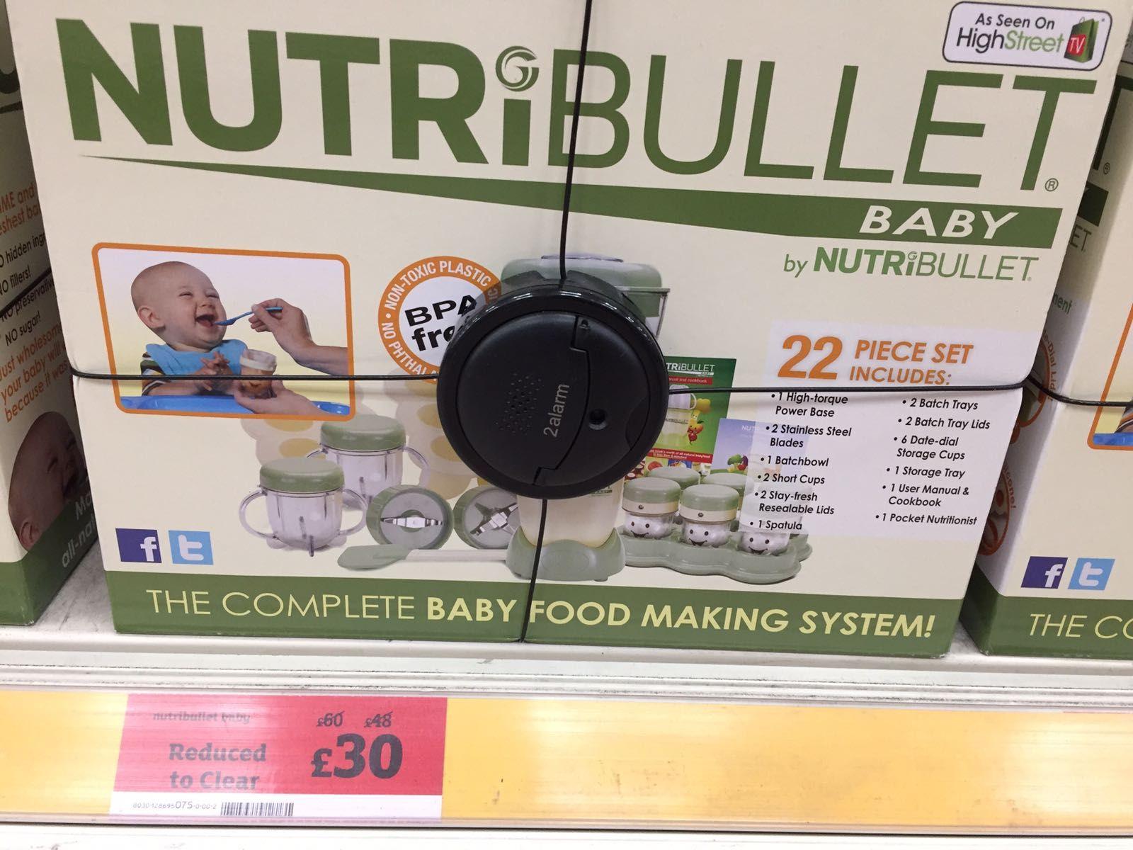 Nutribullet Baby Complete Set £30 (Sydenham sainsburys)