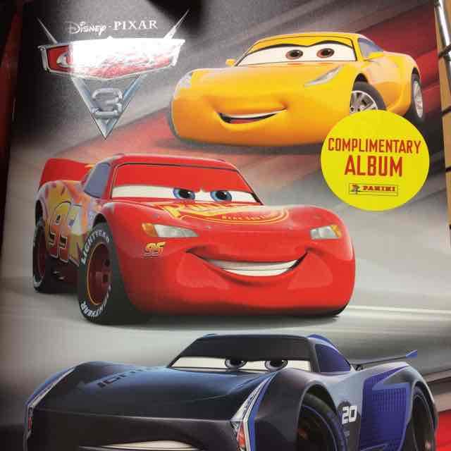 Panini Cars 3 sticker album 6 stickers @ Tesco instore