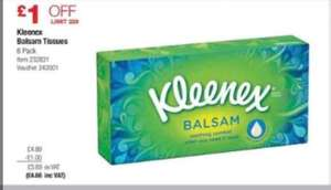 Costco. 6x Kleenex balsam tissues from august 7th to 27th - £4.66