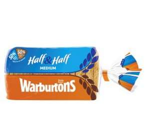 Warburtons Half & Half Bread Loaf - with Printable Voucher Free! @ Iceland