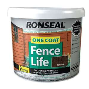 Ronseal Fence Life paint 9L £9 @ B&Q