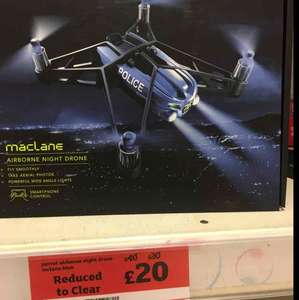 parrot mini drone Maclane reduce to clear £20 instore only @ Sainsbury Ladbroke Grove