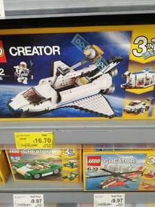 Lego creator Space shuttle 3 in 1, was £24.97, now £16.70 instore @ Asda Livingston