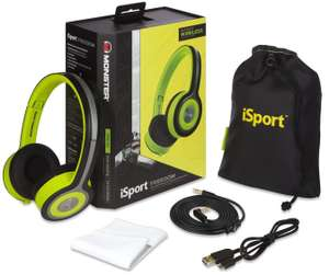 RRP £149.99 Monster iSport Freedom Wireless Bluetooth On Ear Headphones Green Sweatproof £54 @ Tesco / Ebay [12 MONTHS WARRANTY]
