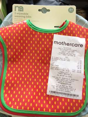 Mothercare -   Lisburn Sprucefield Weaning Bibs 3 pack reduced from £7 to £1.50