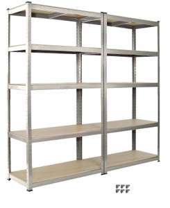 Racking 2 bay Shelving Unit Heavy Duty 5 Tier Shelf Steel Double - £40 (Free Delivery) @ clearance_centre_123/eBay