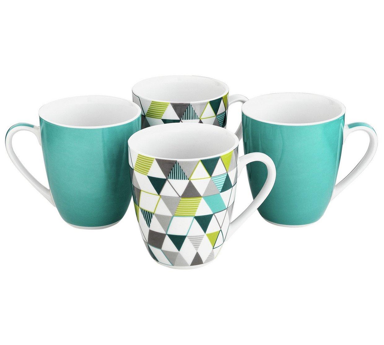 ColourMatch Set of 4 Mugs - Geo £1.99 @ Argos