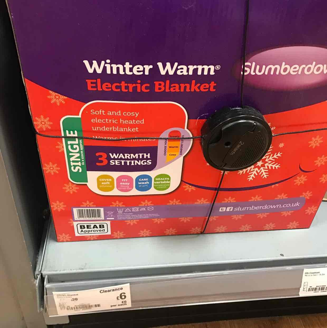 slumberdown single electric blanket @ asda instore £6