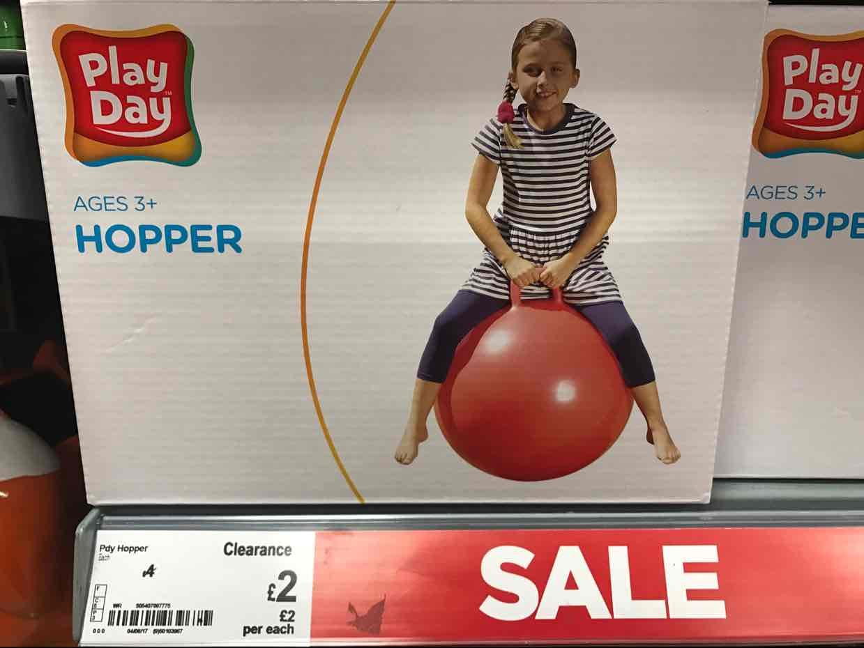 Hopper 3+ £2 @ Asda Edmonton
