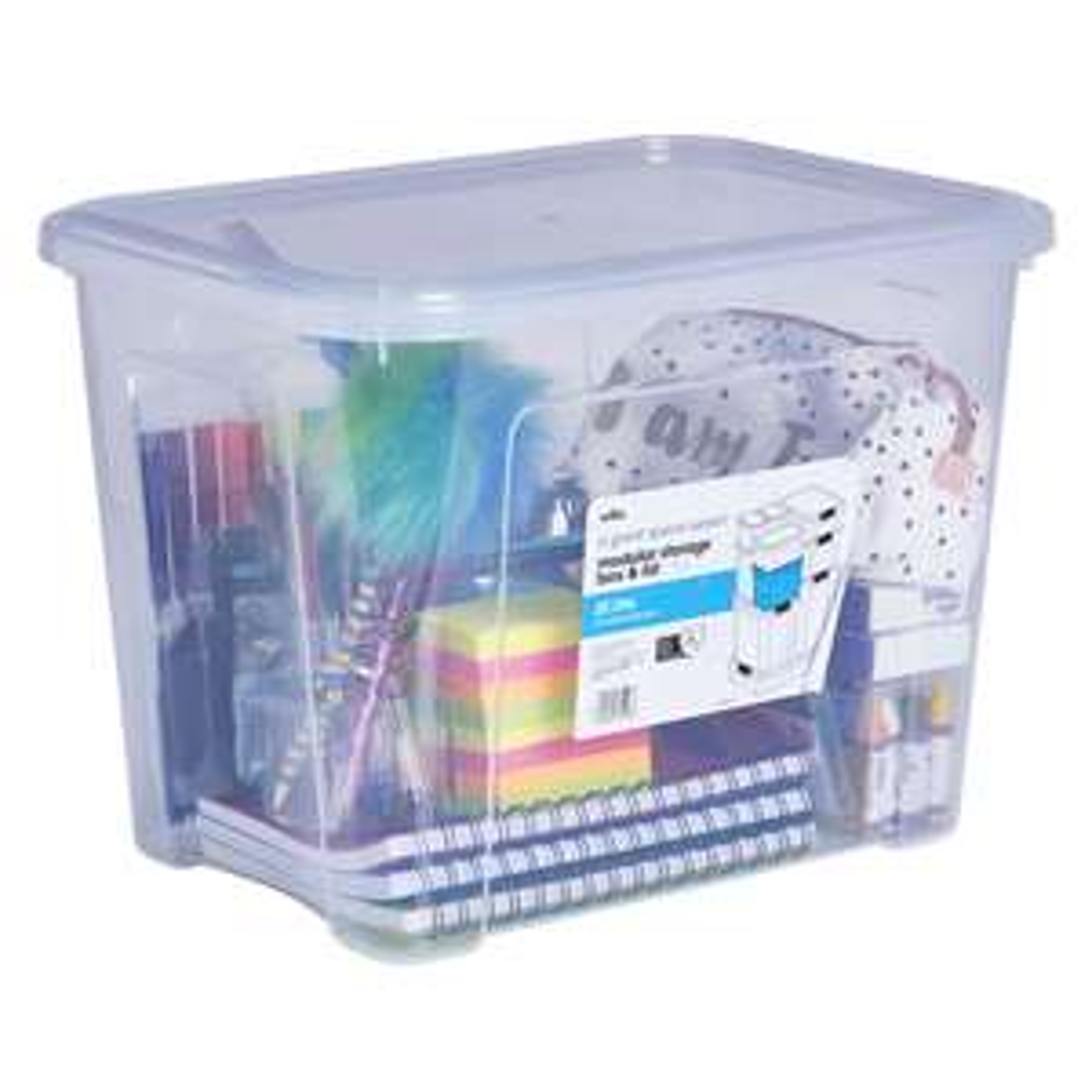 Wilko Modular Storage Box and Lid 20 Litre - was £4 now £2.50 @ Wilko (C&C)