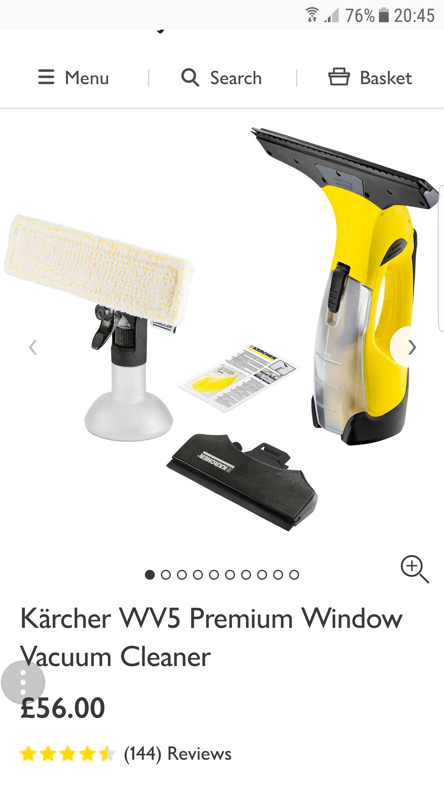 Kärcher WV5 Premium Window Vacuum Cleaner - £56 @ John Lewis