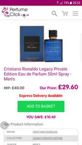Cristiano Ronaldo Legacy Private Edition Eau de Parfum 50ml Spray - Men's - £29.60 @ Perfume Click