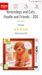 Nintendogs and Cats: Poodle and Friends - 3DS at Argos for £10.99