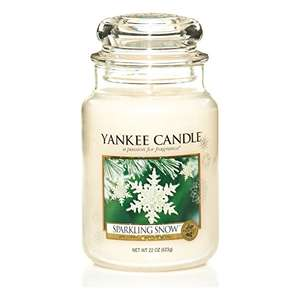 Yankee Candle Large Jar Candle, Sparkling Snow £9.99  (Prime) / £14.74 (non Prime)  Sold by Conochies and Fulfilled by Amazon