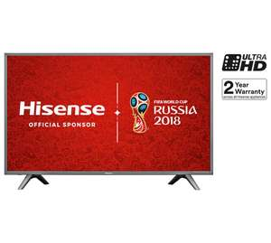 "Argos Hisense H49N5700 LED HDR 4K Ultra HD Smart TV, 49"" with Freeview HD, Dark Grey £424.15 code TV15"