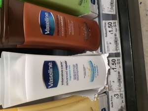 Vaseline intensive care lotion 400ml - £1.50 ASDA