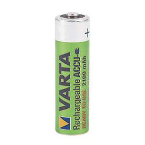 Varta Rechargeable AA 2100mah Batteries × 4  £3.49  Screwfix