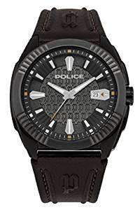 Police Men's Quartz Watch with Silver Dial Analogue Display and Leather Strap £35.52 Del @ Amazon