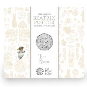 Tom Kitten 50p - Beatrix Potter - Now In Stock - £13 Delivered @ The Royal Mint