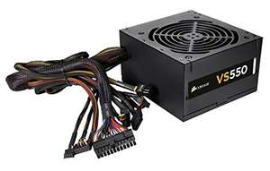 Corsair CP-9020097-UK VS Series ATX/EPS 80 PLUS Power Supply Unit, 550 W Amazon £38.99