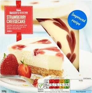 ASDA Baker's Selection Strawberry Cheesecake (550g) each was £3.00 now £1.50 (Rollback Deal) @ Asda
