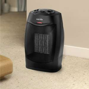 Warmlite 1500W Ceramic PTC Fan Heater (with cool fan setting) half price was £25 now £12.50 C+C @ Asda George (more in op)