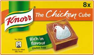 Knorr Chicken Stock Cubes (8 x 10g) was £1.48 now £1.00 (Rollback Deal) @ Asda