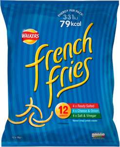 Walkers French Fries Variety Pack (12 x 19g) was £2.00 now £1.50 (Rollback Deal) @ Asda