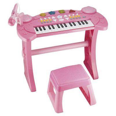 Carousel Keyboard And Stool in Pink £9.99 @ tesco.com