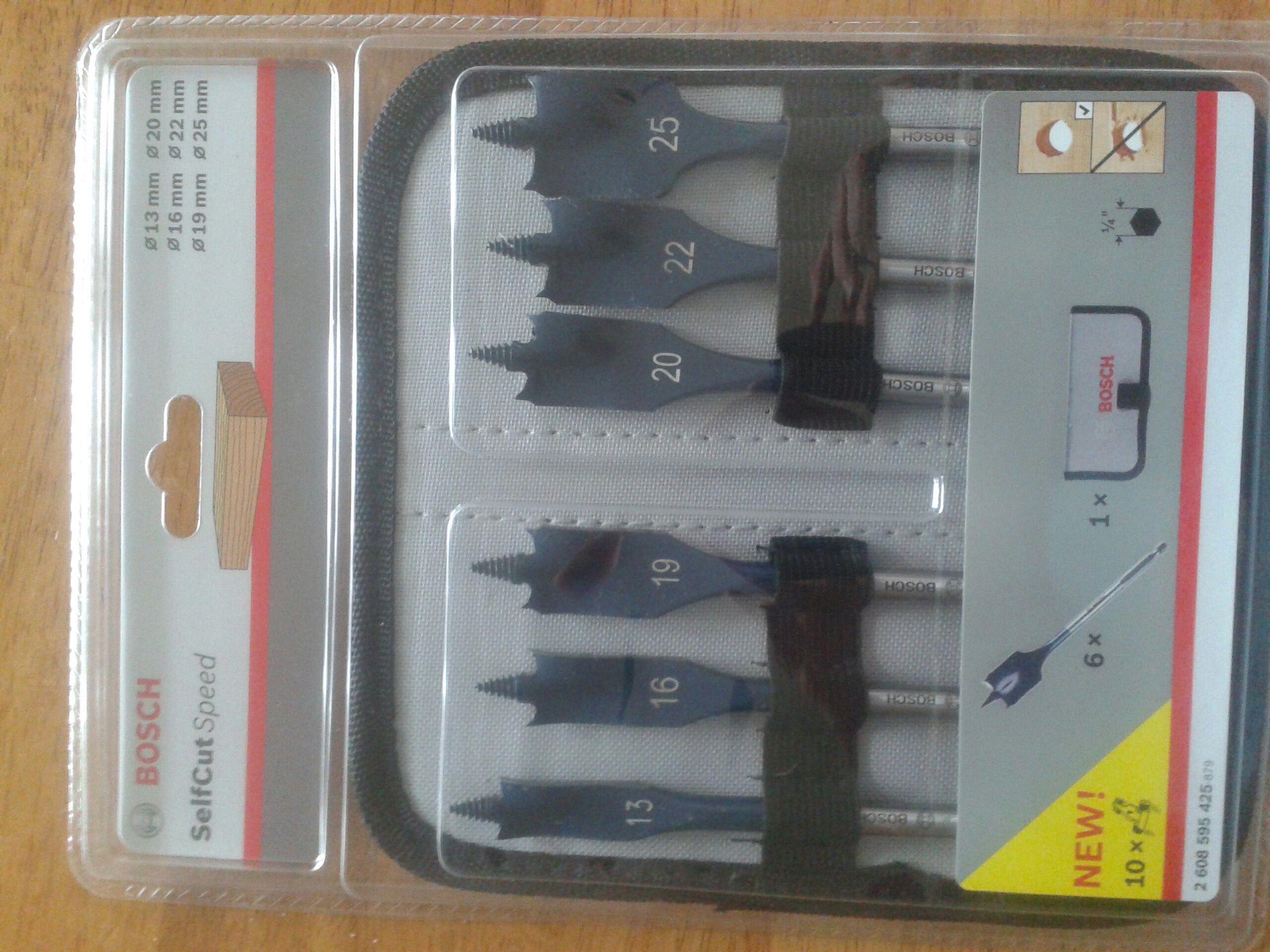 Bosch selfcut flat  drill bits £19.65 @ Toolstation