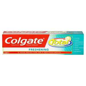 Colgate Total Advanced Toothpaste 125ml (through ClickSnap) 50p @ Morrisons